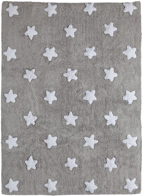 cotton rug in grey and white by canals
