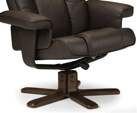 leather reclining chairs with footstool malmo faux leather recliner chair with footstool