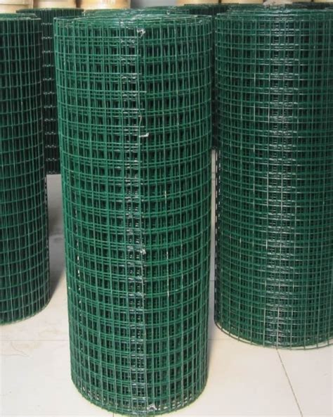 welded wire mesh green steel fence pvc plastic coated