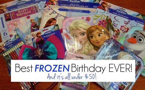 frozen themed birthday ecard the best frozen birthday party ever and it s all under