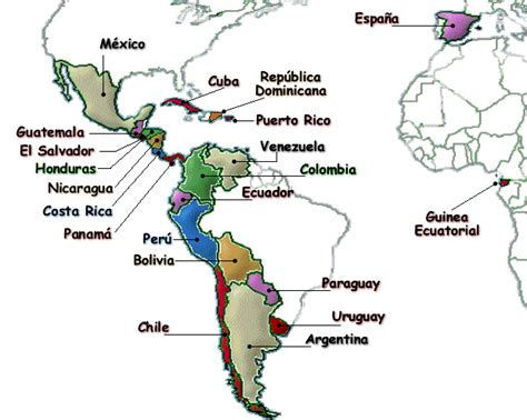 Spanish Speaking Countries Blank Map by Gallery For Gt Spanish Speaking Countries Blank Map
