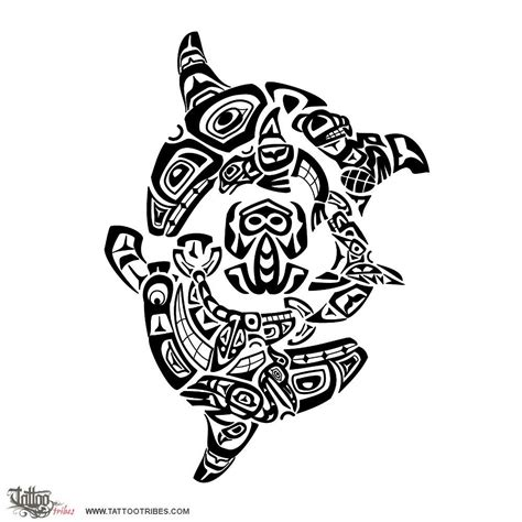 tribal tattoos representing family haida killer whales family this haida styled