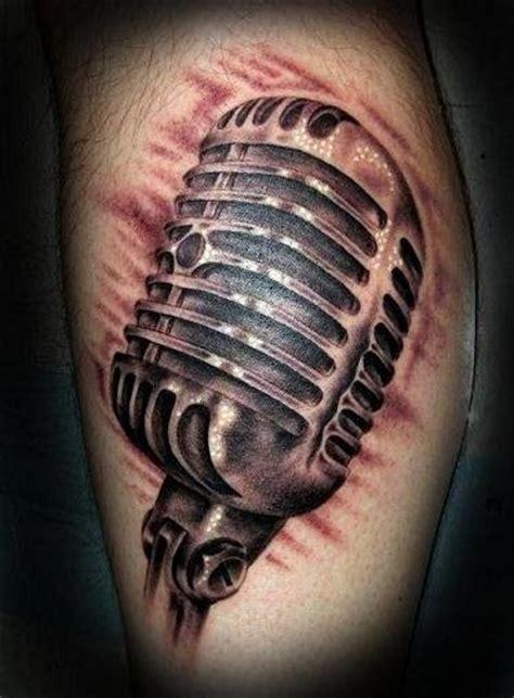 microphone realistic tattoo tatuaje realista micr 243 fono por electric soul tattoo