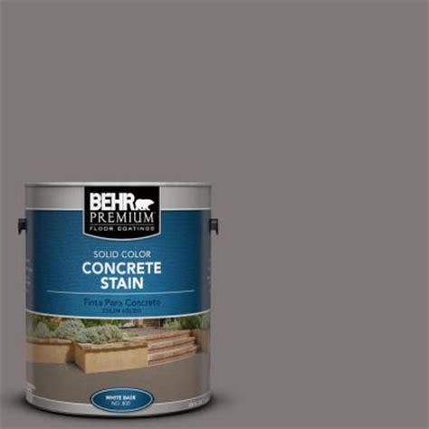 behr premium 1 gal pfc 74 tarnished silver solid color concrete stain 83001 the home depot