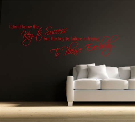 Wallpaper Sticker 5 87 Premium Mawar key to success office motivation wall quote phrase sticker vinyl decal mural ebay