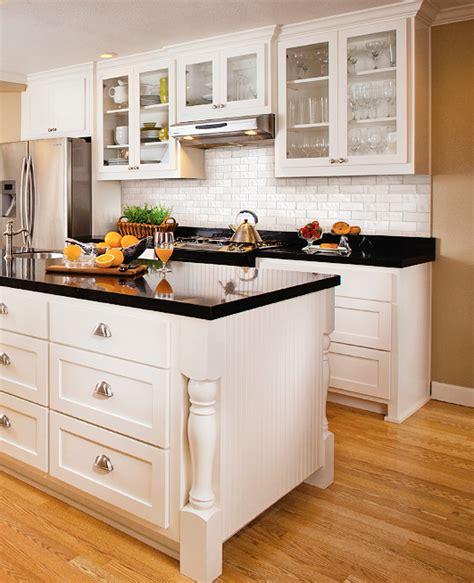 kitchen countertops and backsplashes subway tile back splash white cabinets nickel hardware