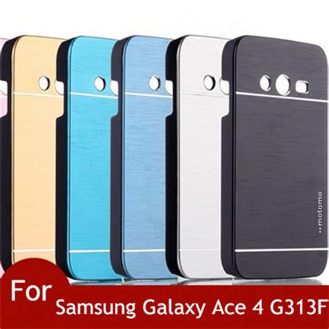 Samsung Galaxy V G313 Ace 4 Aluminum Mirror Casing Cover new motomo brushed aluminum cover for samsung galaxy ace 4 g313 g313h g313f neo duos g318h