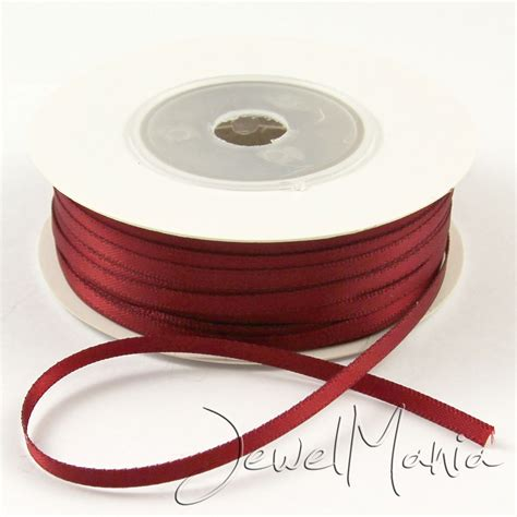 50 meters to 50 metres of 3mm 1 8 quot faced sided satin ribbon