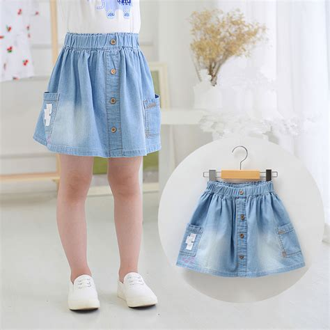 new arrival baby soft denim skirts cotton