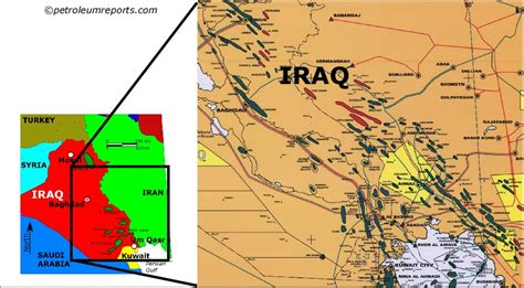 map of iraqi fields news map and image library rigzone