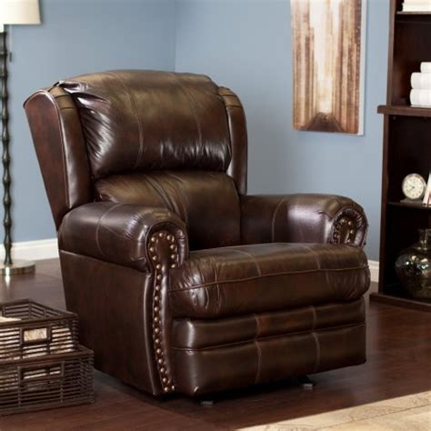 Cheap Rocking Recliners by Buckingham Leather Rocker Recliner