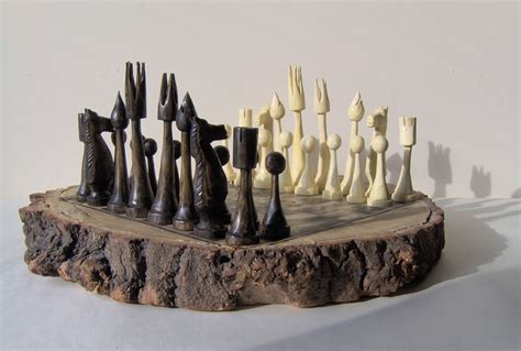 unique chess set peter nash sculpture