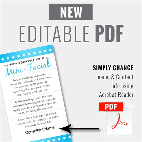 editable pdf business card template editable pdf mini card blue pearl instant