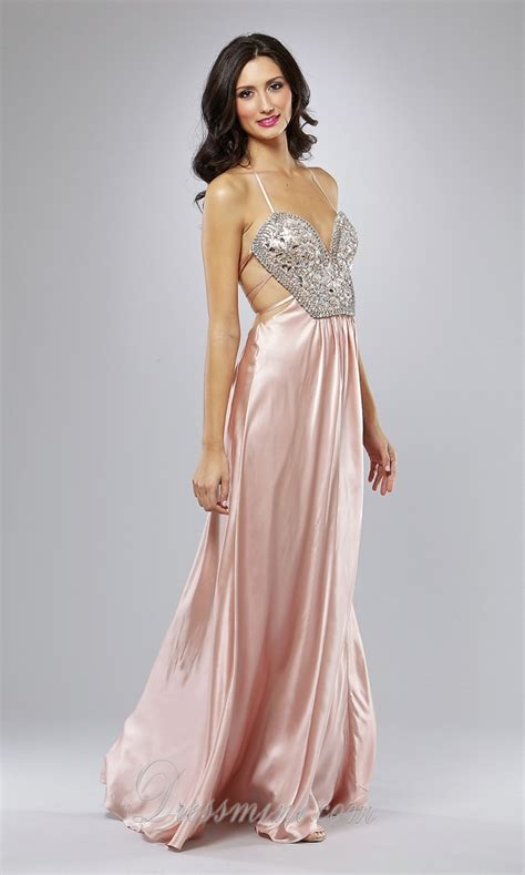 light pink halter dress prom dresses backless long dress style