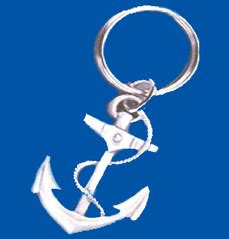 towboat treasures pewter anchor keychain