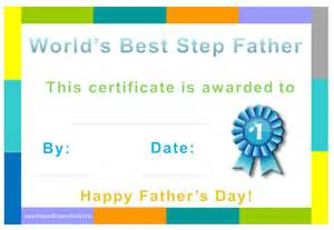step dad certificate