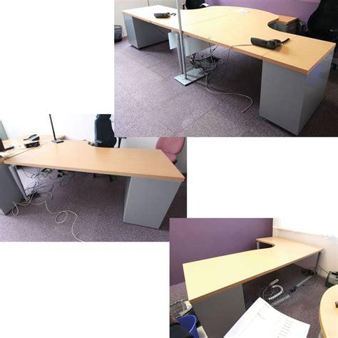 plateau de bureau d angle bureau dangle a 90 degre plateau en bois de couleur hetre