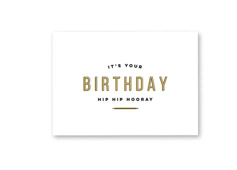minimal modern a modern and minimal birthday card for any occasion