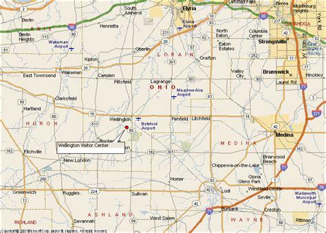 wellington ohio map directions to wellington reservation