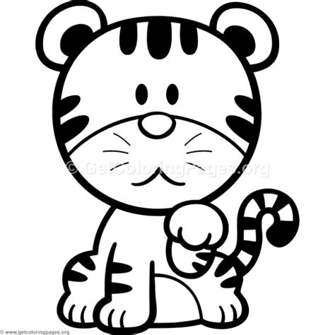 cartoon tiger coloring page little cute cartoon tiger coloring pages