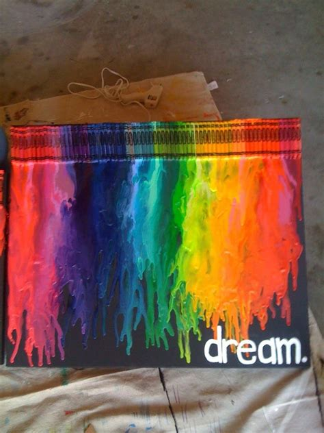 Melted Crayon On Clothes From Dryer Canvas Crayons Dryer Done Crafts Things You