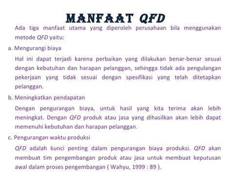 langkah membuat qfd qfd persentasi