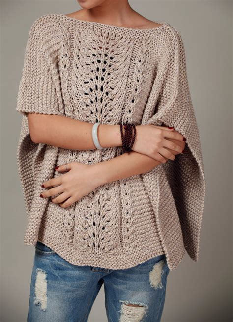 knitting pattern poncho sweater hand knitted woman cotton poncho capelet wheat sweater
