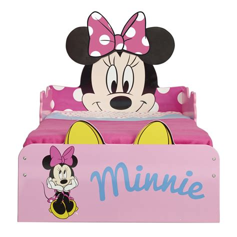 minnie mouse baby bed minnie mouse snuggletime mdf toddler bed mattress new