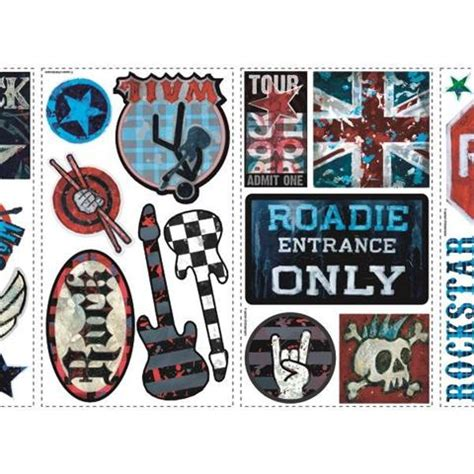 peel and stick wall stickers peel and stick boys rock n roll peel stick wall decals