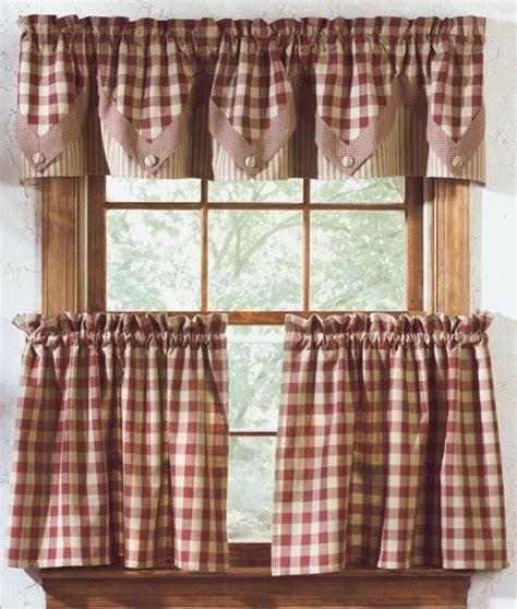 curtains for windows in the kitchen of country style