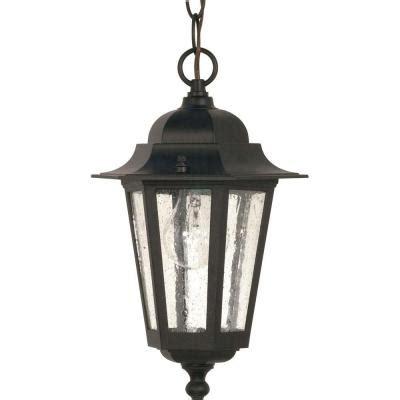 Lite Line Glamor 1 Light Outdoor Hanging Textured Black Outdoor Line Lights