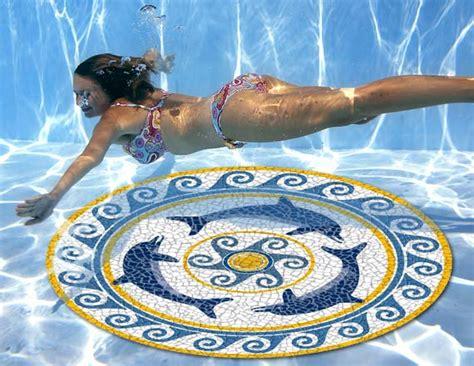 Underwater Pool Mats mosaic fish pool mat 47 quot for swimming pool aqua poolmart dot ebay