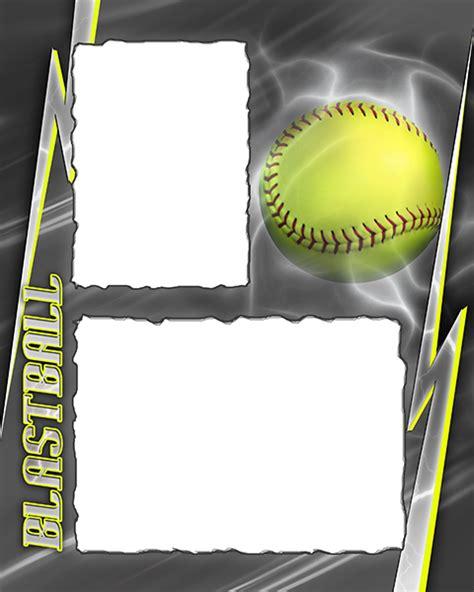 Softball Card Template by Blastball Photo Templates