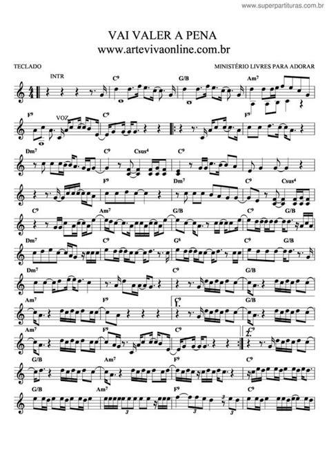 Página que contém a partitura da música Vai Valer A Pena V