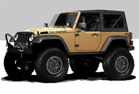 jeep wrangler lineup jeep wrangler sand trooper 2012 sema