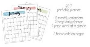 Printable Daily Planner 2017 2017 Printable Planner