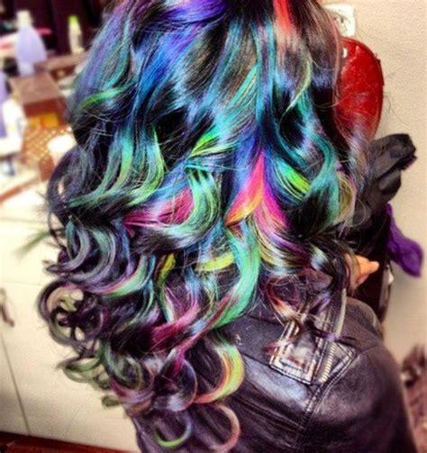 rainbow color hair ideas ombre hair rainbow hair hair color bloomdotcom by