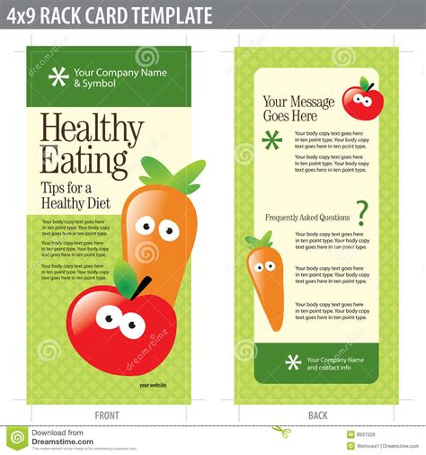 nutrition brochure template 2 best agenda templates