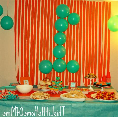 classic photo of simple birthday decoration in home simple