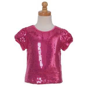 Lipstik designer fuchsia sequin top little girls dance shirt 4 14