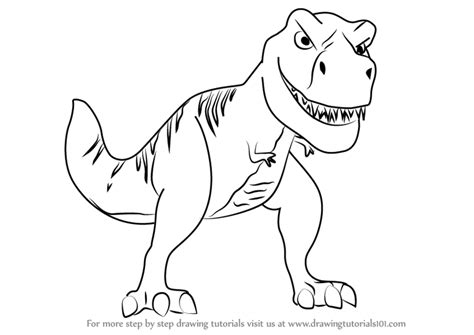 Drawing T Rex by Tyrannosaurus Rex Pencil And In Color