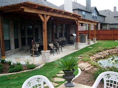 Backyard Layouts Ideas Backyard Covered Patio Patio Covers Covered Back Porch Patio Designs Interior Designs Flauminc
