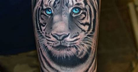 queenstown tattoo white tiger white tiger with blue eyes tattoo tattoos pinterest