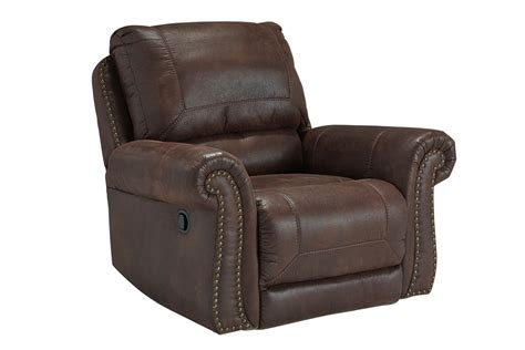 white recliner rocker breville brown with nailhead rocker recliner at gardner white
