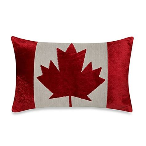 Sofa Pillows Canada Canadian Flag Oblong Throw Pillow Bed Bath Beyond