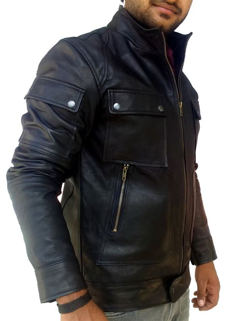 Handmade Leather Jacket - handmade new superb pocket slim fit leather