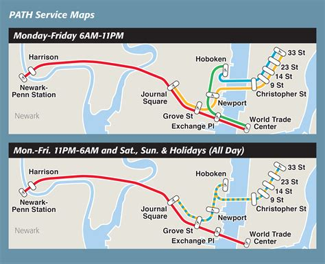 jersey city light rail schedule maps path the port authority of ny nj