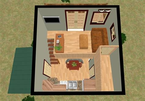 small cube home a touch of outside small houses the cozy cube tiny house with a balcony from cozy home plans