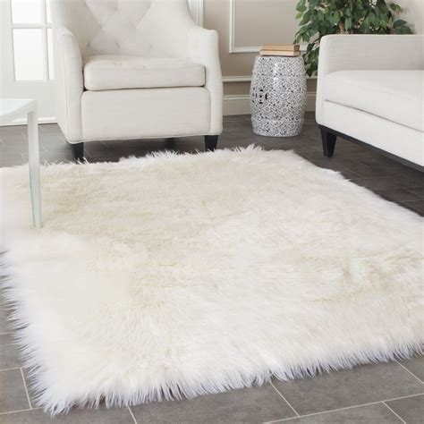White Fluffy Rugs Roselawnlutheran White Rugs