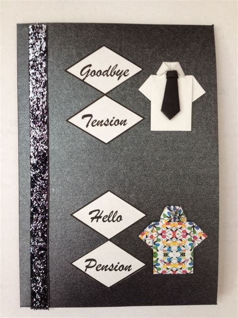 how to make a retirement card retirement card crafts retirement cards